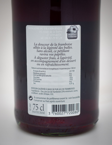 Framboise petillant 75cl