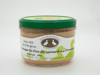 Mousse de foie de canard au pommeau 180gr