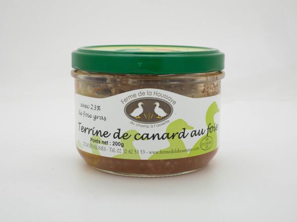 Terrine de canard au foie gras 200gr
