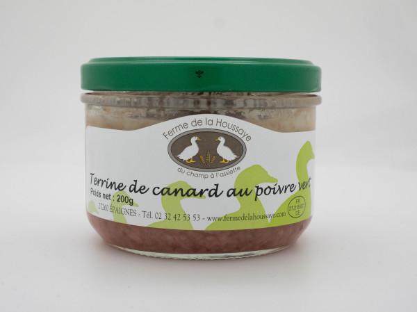 Terrine de canard au poivre vert 200 gr
